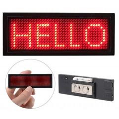 LED Ταμπελάκι τύπου κονκάρδα κυλιόμενων μηνυμάτων κόκκινο χρώμα 8x3cm B1236-OEM