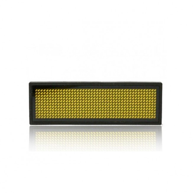 LED Ταμπελάκι τύπου κονκάρδα κυλιόμενων μηνυμάτων κίτρινο χρώμα 8x3 cm B1236-OEM
