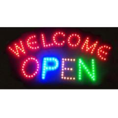 Φωτιζόμενη διαφημιστική πινακίδα LED WELCOME OPEN-OEM