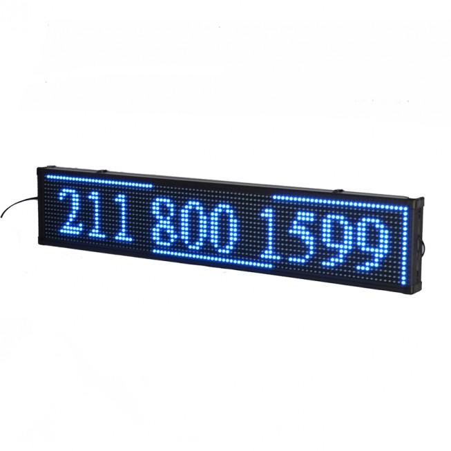 Πινακίδα LED κυλιόμενων μηνυμάτων 170x40 cm μπλέ