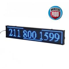 Πινακίδα LED ΑΔΙΑΒΡΟΧΗ κυλιόμενων μηνυμάτων 170x40 cm μπλέ