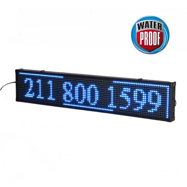 Πινακίδα LED ΑΔΙΑΒΡΟΧΗ κυλιόμενων μηνυμάτων 100x40 cm μπλέ
