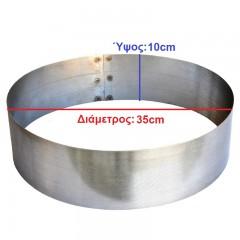 Κόσκινο 0,5mm INOX για παραγωγή άχνης ζάχαρης και αλευριού (35x10cm)