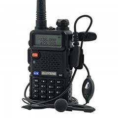 Baofeng UV-5R Φορητός dual band πομποδέκτης VHF/UHF έως 5.8W + μικροακουστικό-OEM