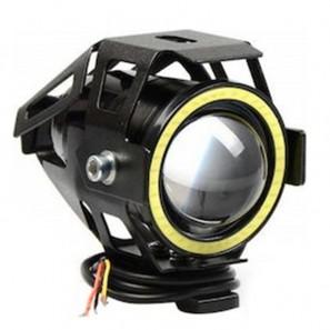 Αδιάβροχος προβολέας μοτοσυκλέτας Cree LED U7 με λευκό φως στεφάνης OEM