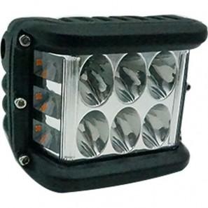 Αδιάβροχος προβολέας εργασίας 6 LED 36W με άσπρο/κόκκινο/μπλε φωτισμό GL-54228