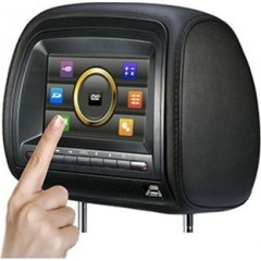7-Inch LCD Car Headrest Monitor DVD Player, IR, USB/SD Card And Zipper SOPHY S2207