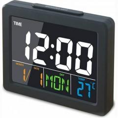 Επιτραπέζιο Ψηφιακό Ρολόι Έγχρωμο με Ξυπνητήρι, Ημερομηνία & Θερμοκρασία GH-2000WJ