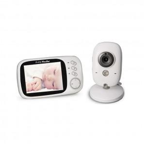 Ασύρματο Σύστημα Παρακολούθησης με Κάμερα για Μωρά, Ενδοεπικοινωνία, Night Vision – 3.2 inch LCD 2.4GHz (White) – VB603 – OEM