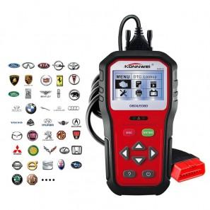 Επαγγελματικό διαγνωστικό Αυτοκινήτου Scanner για όλα τα αυτοκίνητα, πρωτόκολλο OBD II, Auto Code Reader Scanner, Konnwei KW818