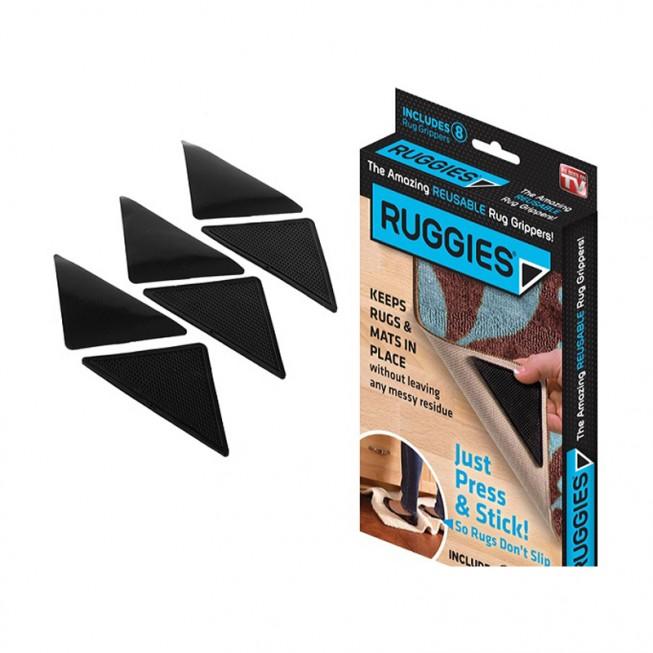 Επαναστατικά αντιολισθητικά πατάκια χαλιών RUGGIES 4τμχ.