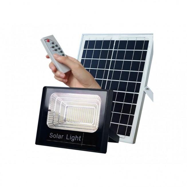 Ηλιακός Solar Προβολέας  10W Με Φωτοβολταϊκό Πάνελ, Τηλεκοντρόλ Και Χρονοδιακόπτη JD-8810