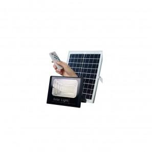Ηλιακός Solar Προβολέας  25W με Φωτοβολταϊκό Πάνελ, Τηλεκοντρόλ και Χρονοδιακόπτη, FO-8825