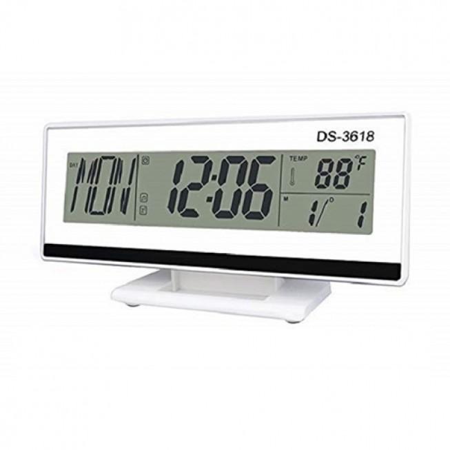 Ρολόι Ξυπνητήρι Με Αισθητήρα Ήχου LCD Οθόνη Και Ένδειξη Θερμοκρασίας – OEM DS-3618