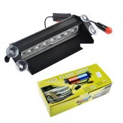 Φώτα αστυνομίας για το παρμπρίζ αυτοκινήτου led flash light 8W μπλε και κόκκινο HB803C