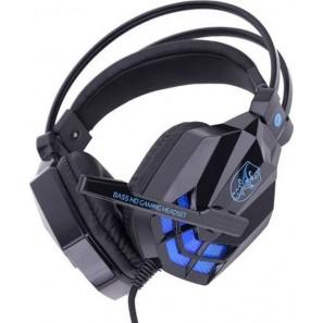 Ακουστικά PC με Δόνηση LED Soyto SY850MV – Μάυρο