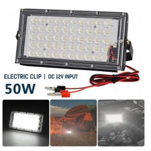 Προβολέας LED 50w 12v αδιάβροχος με δυνατότητα σύνδεσης σε μπαταρία 12v OEM