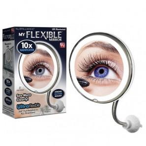Μεγεθυντικός Καθρέφτης με Φωτισμό Led – 10x Magnification – Flexible Mirror